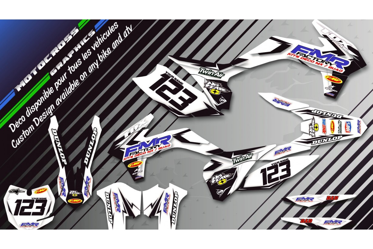 """Fmr factory WT Edition CA13WT"" Graphic kit HONDA CRF 250R 