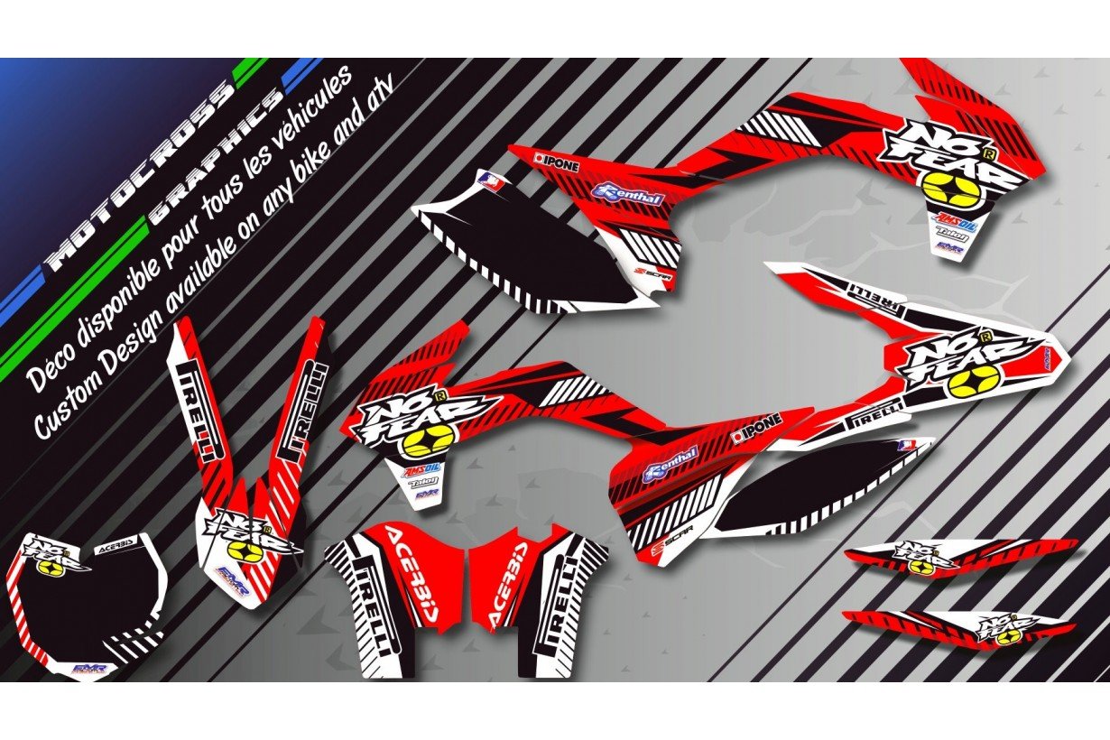 """NO FEAR CA5B"" Graphic kit HUSQVARNA WR 250 & 300 