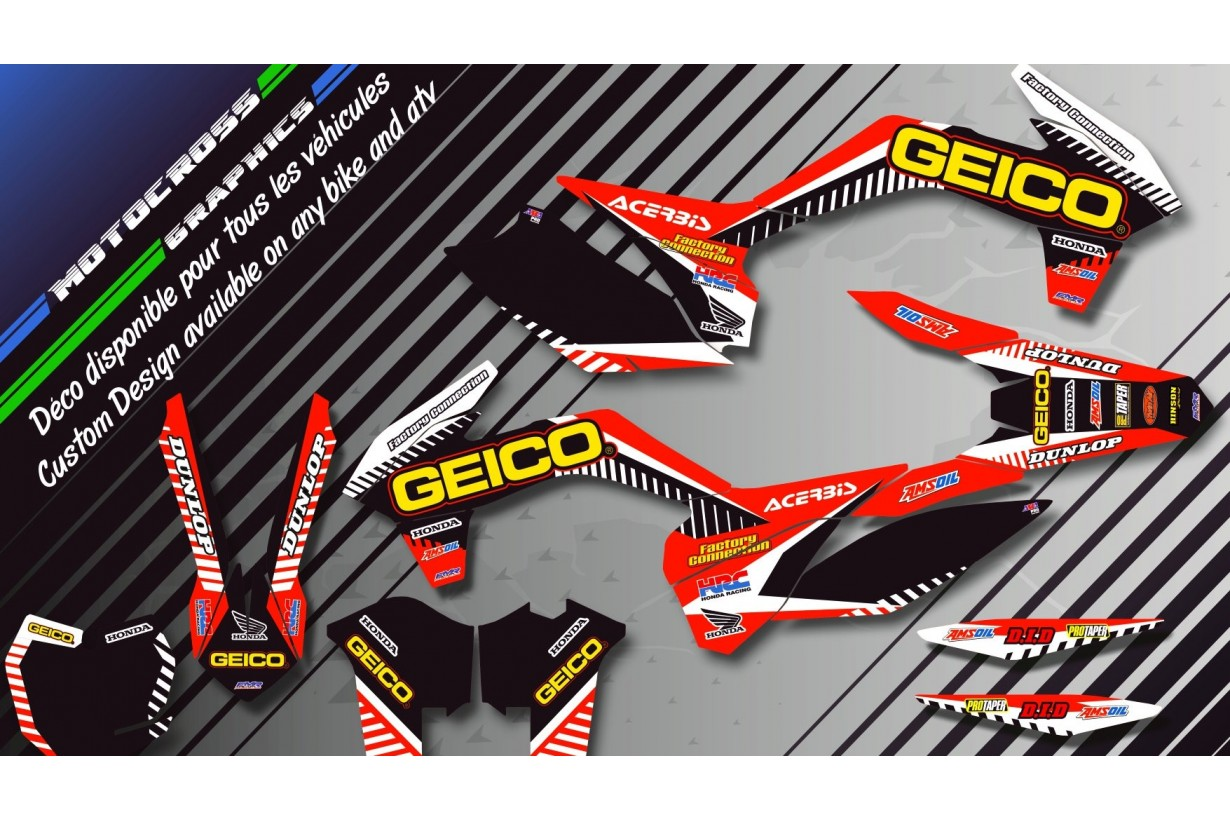 """GEICO CA12A"" Graphic kit HONDA CRF 250L 