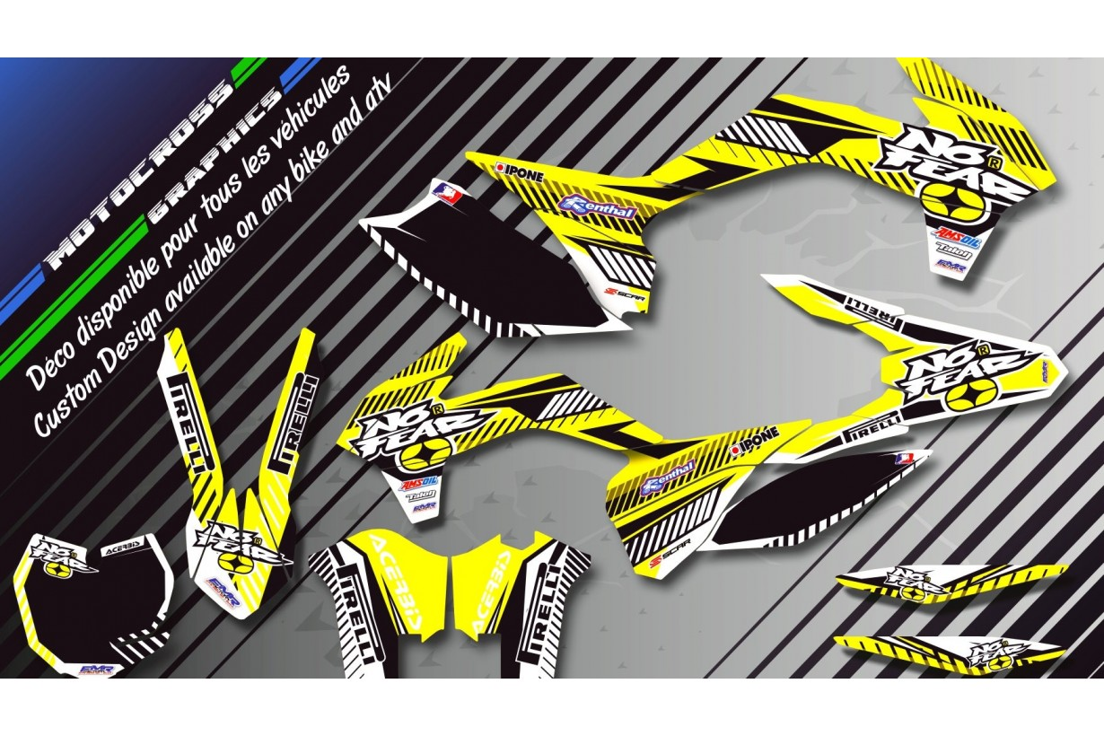 """NO FEAR CA5D"" Graphic kit YAMAHA WR 125R 