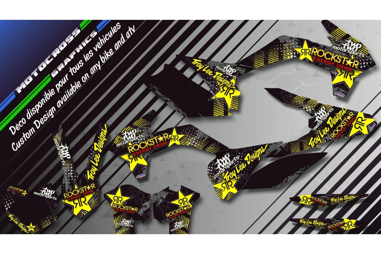 """ROCKSTAR Energy CA16D"" Graphic kit YAMAHA YZF 250 00-17 