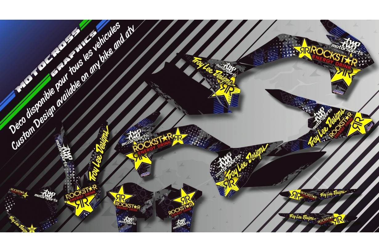 """ROCKSTAR Energy CA16E"" Graphic kit YAMAHA YZF 450 426 400 98-17 