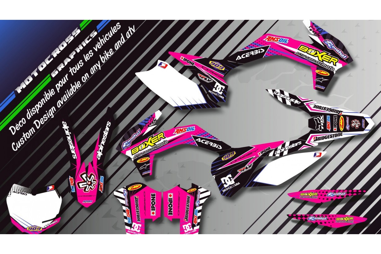 """BOXER CA1F"" Graphic kit KAWASAKI KX 125 & 250 
