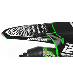 Custom dirt bike Graphics kit KAWASAKI MOTUL BLACK and WHITE | custom-graphics-mx