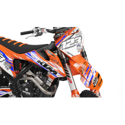Custom dirt bike Graphics kit KTM JUST1 BLUE | custom-graphics-mx