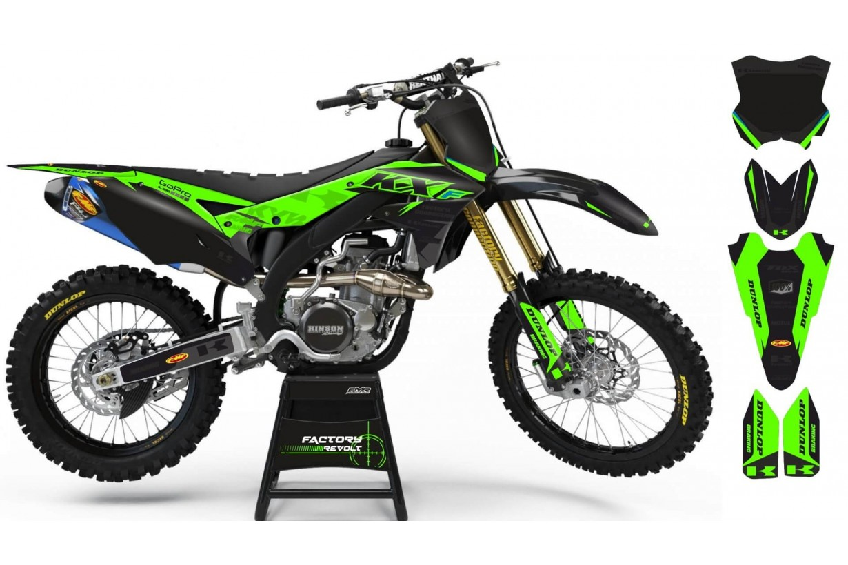 Graphics kits KAWASAKI FACTORY REVOLT A26B3 | custom-graphics-mx