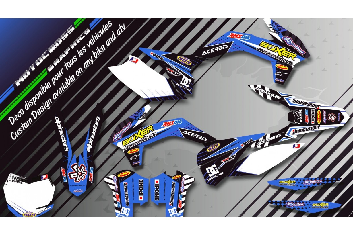 """BOXER CA1E"" Graphic kit YAMAHA YFz 450 Quad 