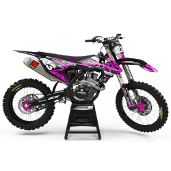 KTM Graphics Kit KTM FACTORY ENERGY PINK : with a unique style