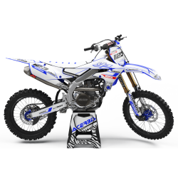 Yamaha graphics MOTUL white and blue