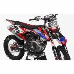 Dirt Bike Graphic kits yamaha FACTORY ENERGY RED BLUE : Ultra-resistant glue
