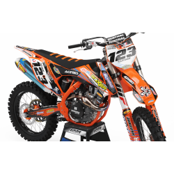 Graphics Kit BOXER BOXER ORANGE : Add value to your Motocross and Quad