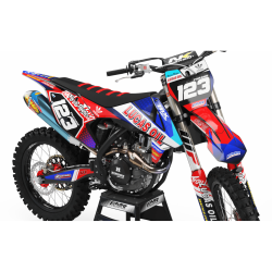 Graphics Kit LUCAS OIL RED : The best kit for your bike