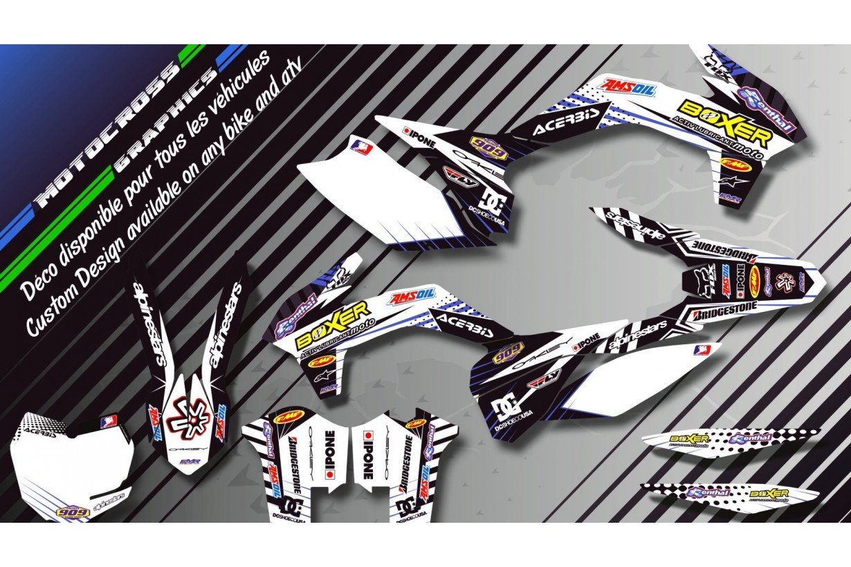 """BOXER  CA1G"" Graphic kit KAWASAKI KLX 450 R 