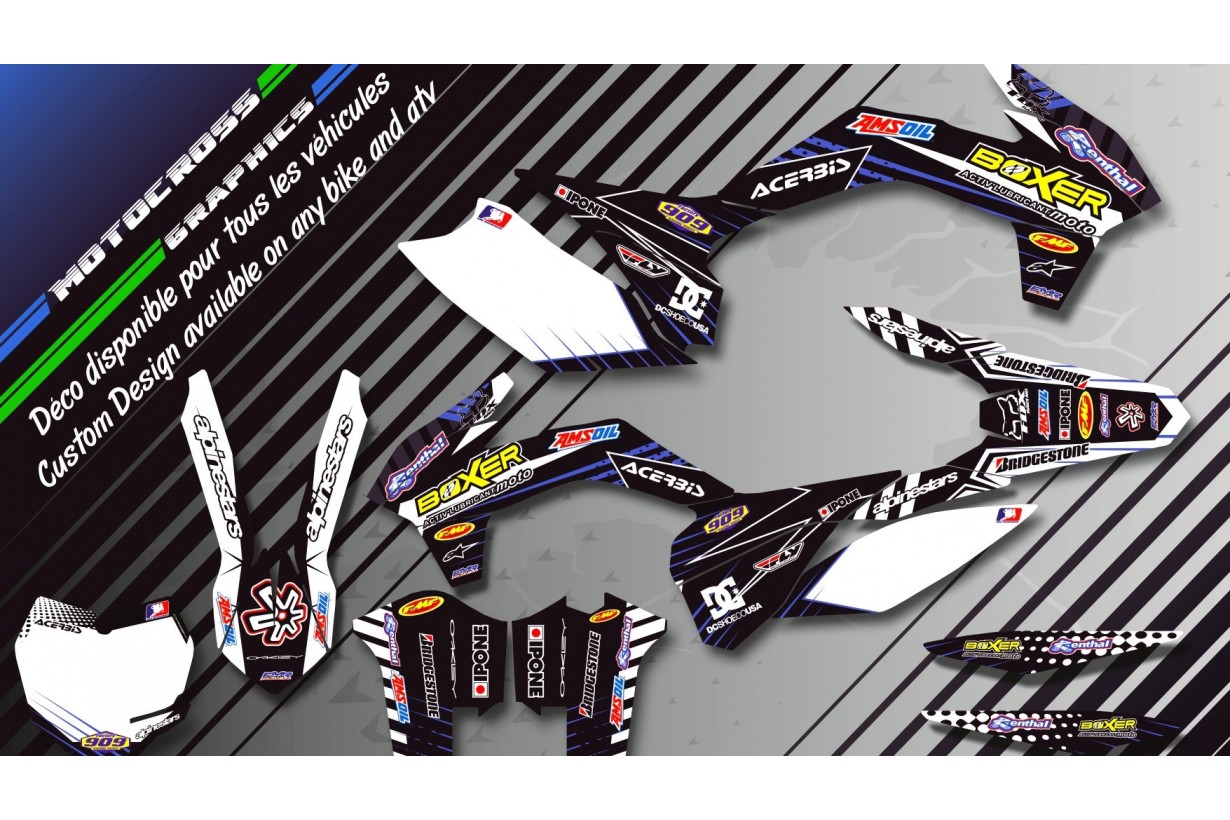 """BOXER CA1H"" Graphic kit KAWASAKI KLX 140 08-18 