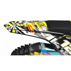 "Custom dirt bike Graphics kit ""ALPINESTARS CA4E"" jaune 