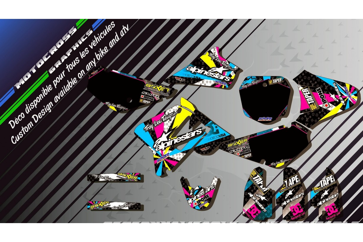 """ALPINESTARS CA4A"" Graphic kit SUZUKI RM 85 
