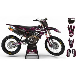 "Custom dirt bike Graphics kit ""ALPINESTARS ADN"" A28PK pink 