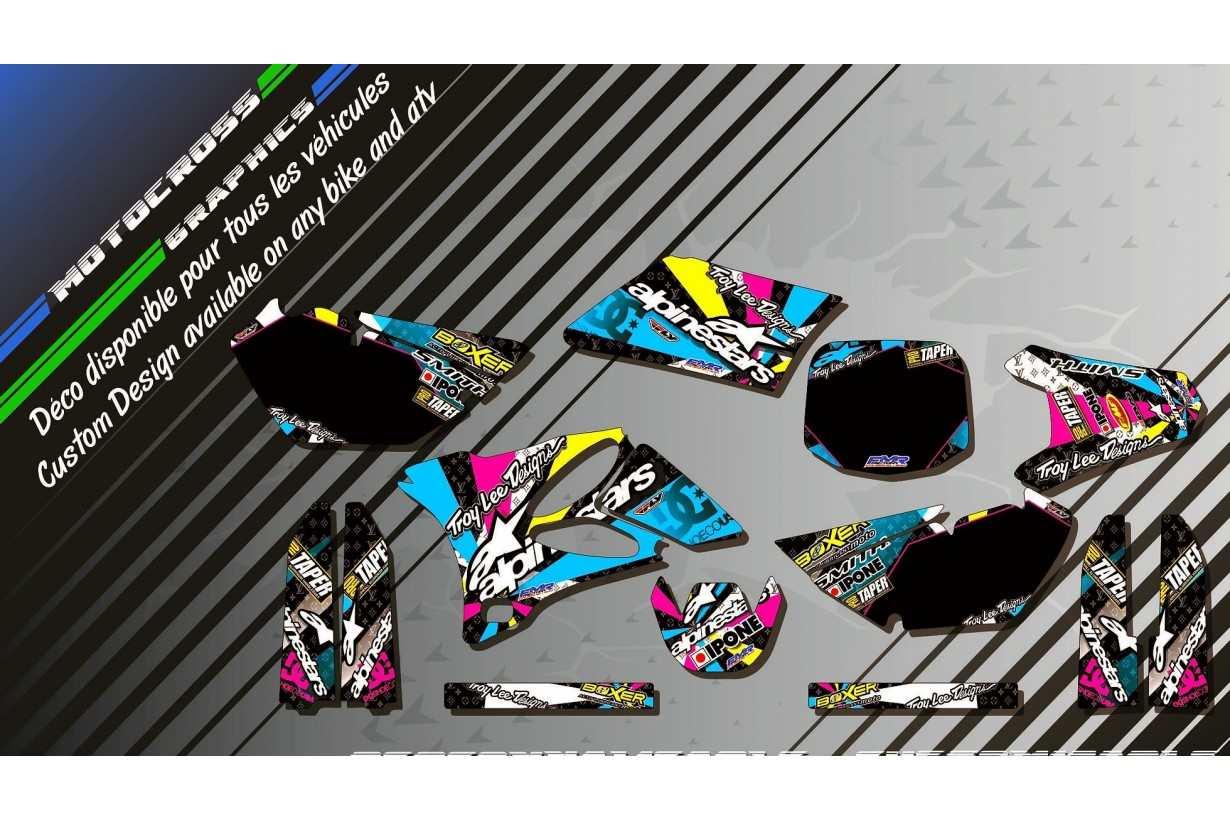 """ALPINESTARS CA4A""  Graphic kit YAMAHA YZ 85 