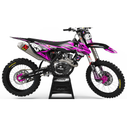 Custom dirt bike Graphics kit HONDA FACTORY ENERGY CA33A3 pink | custom-graphics-mx