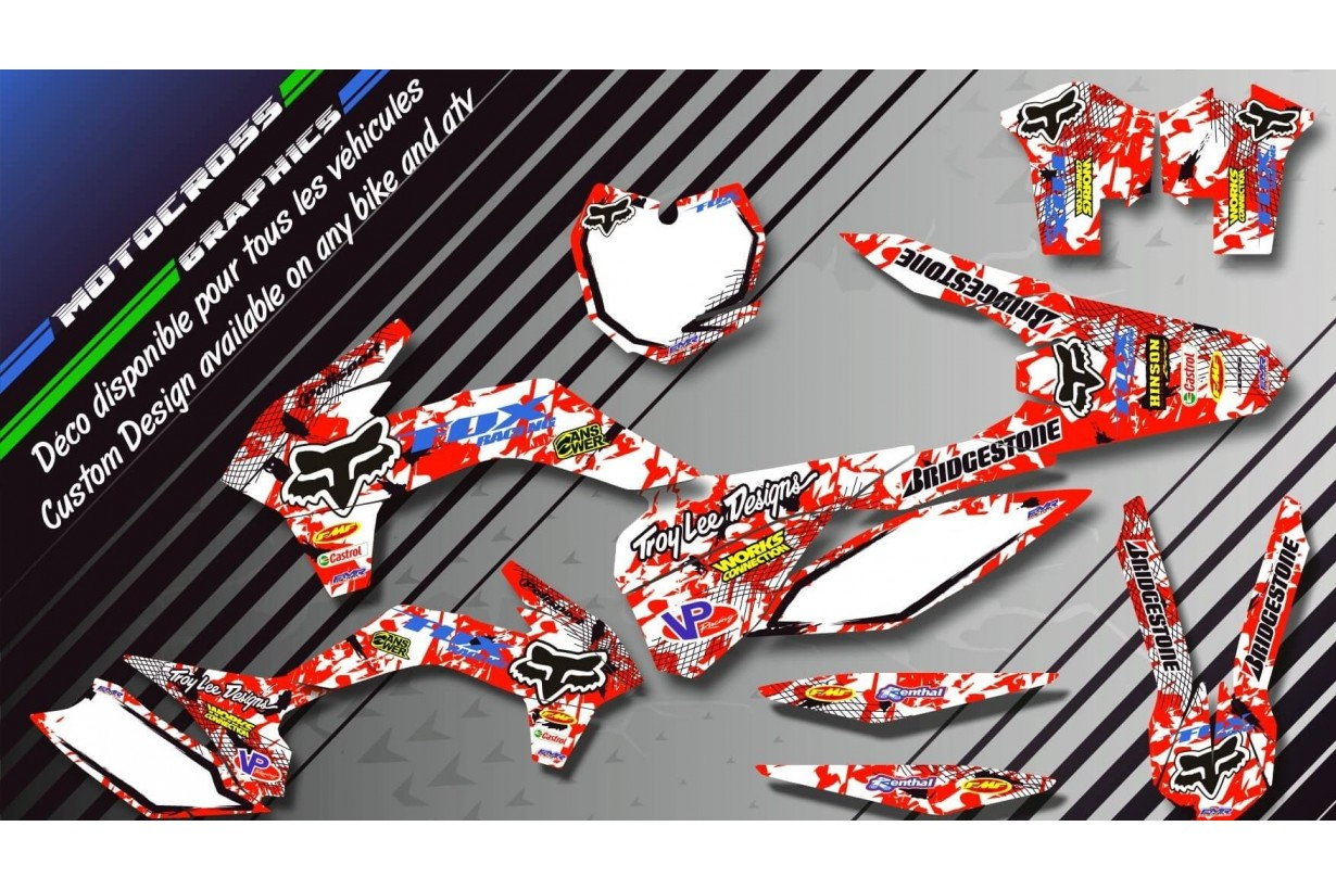 "Custom dirt bike Graphics kit ""FOX CA9A"" 