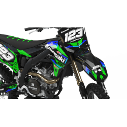 Custom dirt bike Graphics kit KAWASAKI MOTOCROSS JGR CA37B | custom-graphics-mx