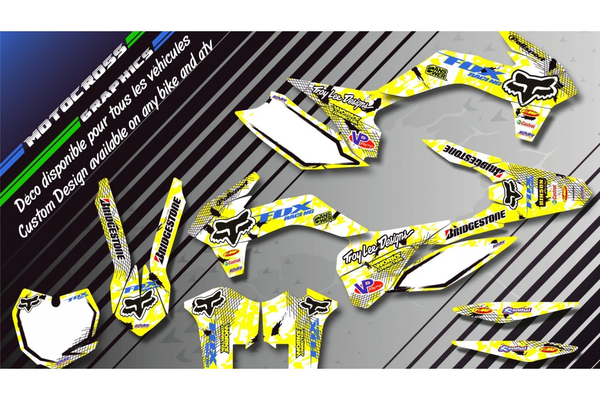 """FOX CA9D"" Graphic kit SUZUKI LTR 450 