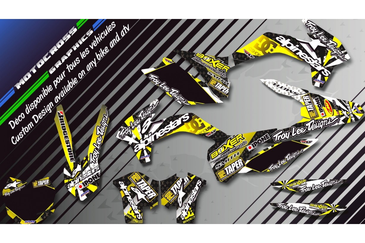 """ALPINESTARS CA4E"" Graphic kit SUZUKI JR 80 