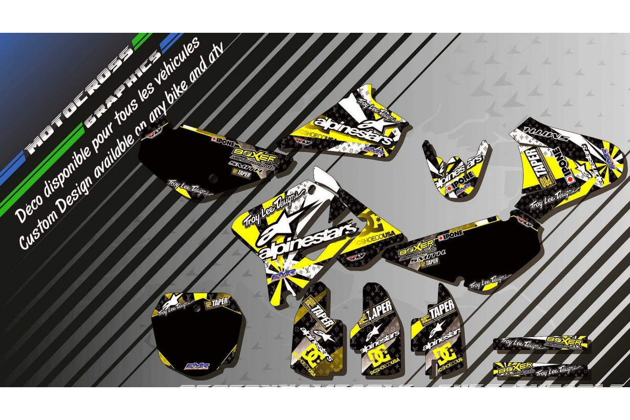 """ALPINESTARS CA4E"" Graphic kit SUZUKI RM 85 