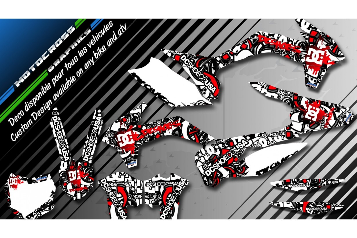 """DC B&W CA15A"" Graphic kit HONDA CRF 250X 