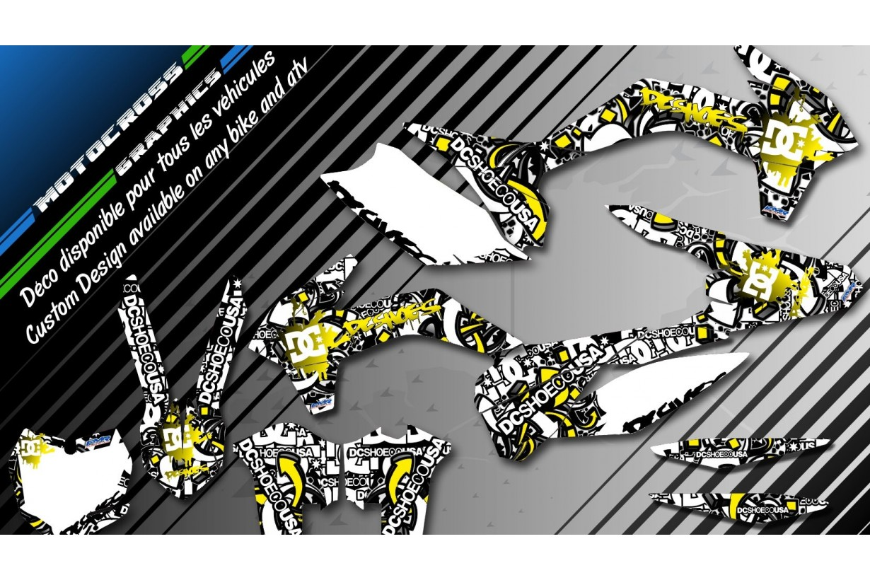 """DC B&W CA15D"" Graphic kit YAMAHA YZF 450 426 400 98-17 