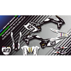 """Factory Black Edition CA10AB"" Graphic kit HONDA CR 125 & 250 