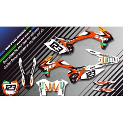 """Factory Replica KTM CA10C"" Graphic kit KTM FreeRide 