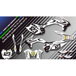 """Factory White Edition CA10BW"" Graphic kit KAWASAKI KLX 140 08-18 