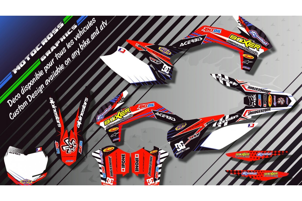 """BOXER CA1A"" Graphic kit HONDA CRF 250X 