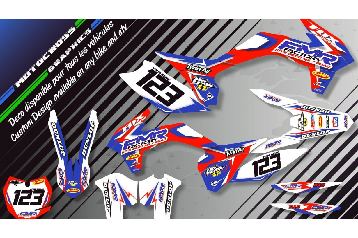 """Fmr Factory CA13A"" Graphic kit HONDA CRF 450X 