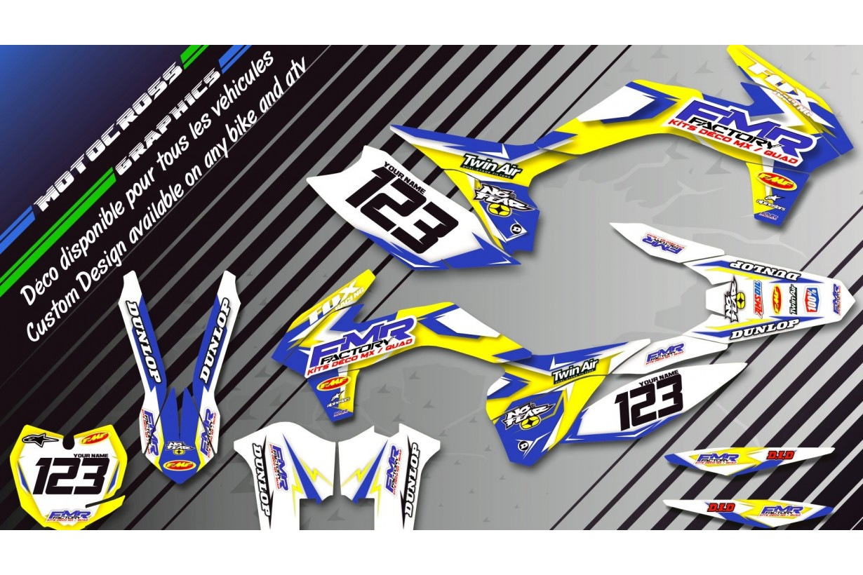 """Fmr Factory CA13D"" Graphic kit YAMAHA WR 250R 
